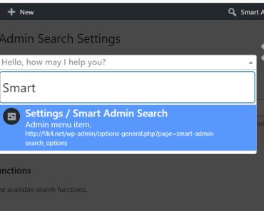 Smart Admin Search