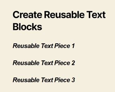 Create Reusable Text Blocks & Code Snippets