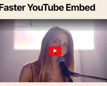 Fast & Efficient Youtube Video Embed Plugin For WordPress