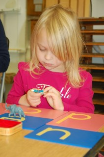 Young Student Exploring Montessori Education