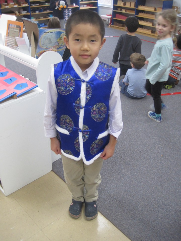 Richard Ma shared a traditional Chinese boys outfit