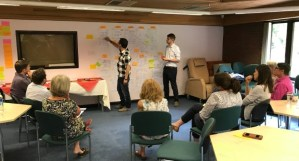 A photo of a collaborative sprint workshop led by WPNC staff for Princess Alice Hospice