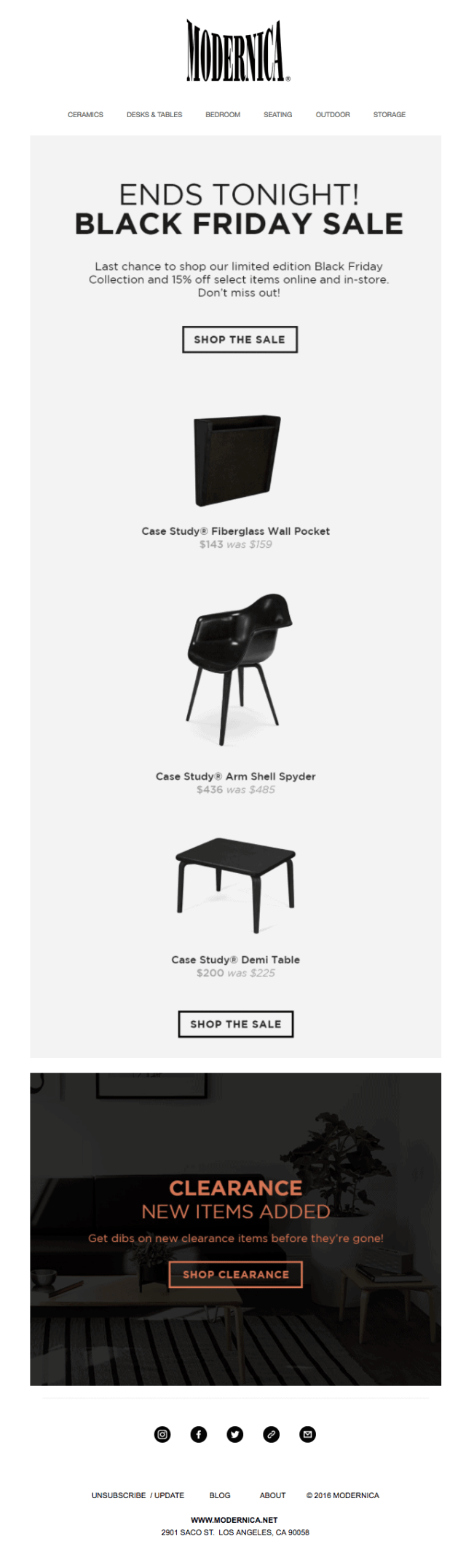 Modernica email