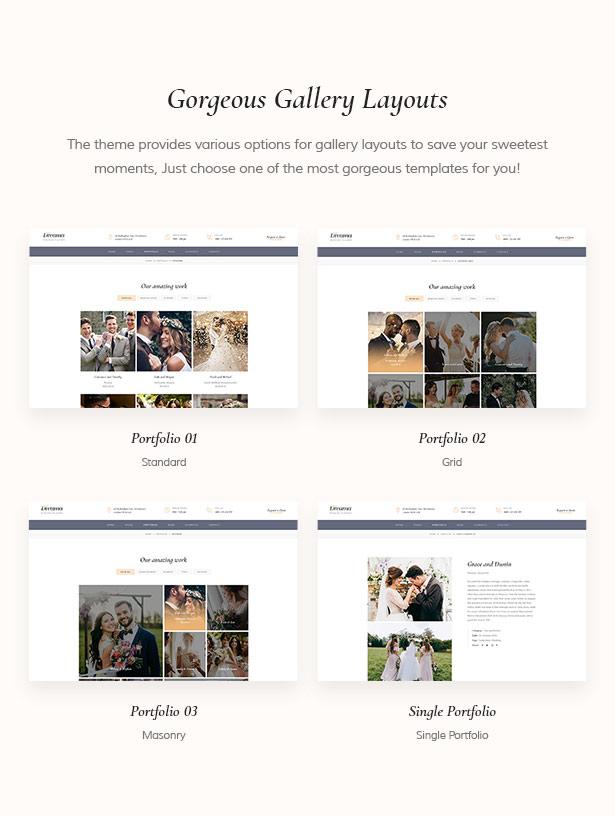 Amazing Wedding Gallery For WordPress Website