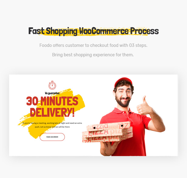 Foodo WooCommerce: WordPress theme for fast food restaurants