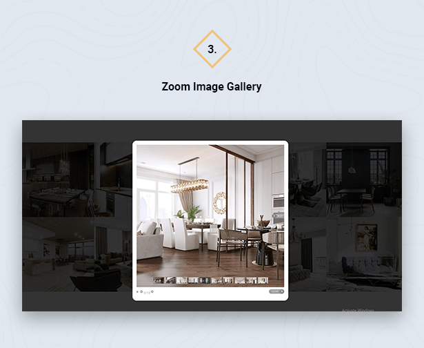 Zoom Image Gallery in HouseSang Single Property WordPress Theme