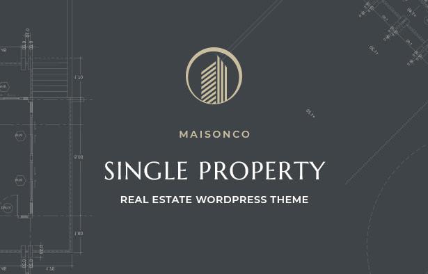 MaisonCo Single Property For Sale & Rent WordPress Theme