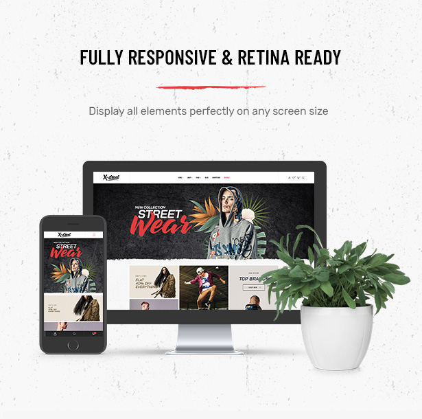 Fully responsive Striz Fashion Ecommerce WordPress Theme