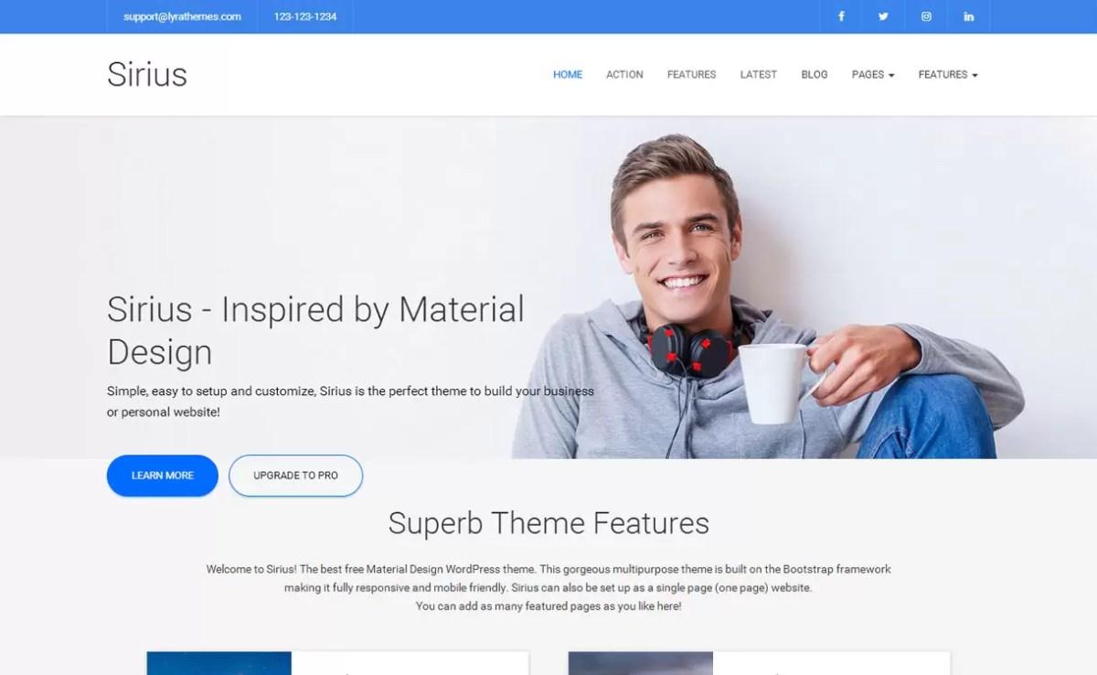 Sirius - Best Business WordPress Theme