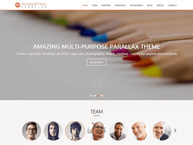ap-free one-page wordpress themes