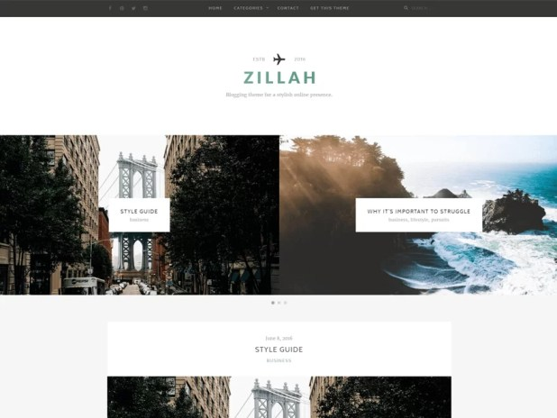 zillah-free responsive WordPress theme