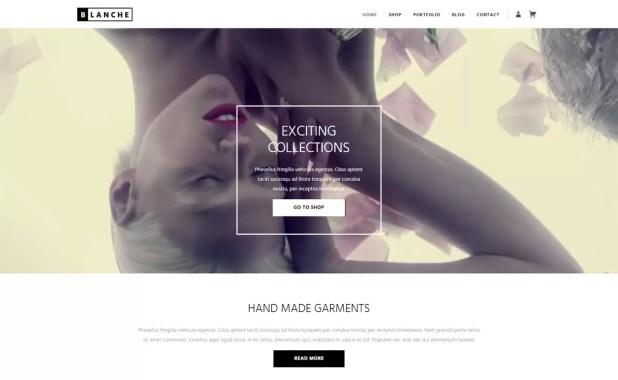 blanche lite-free portfolio theme