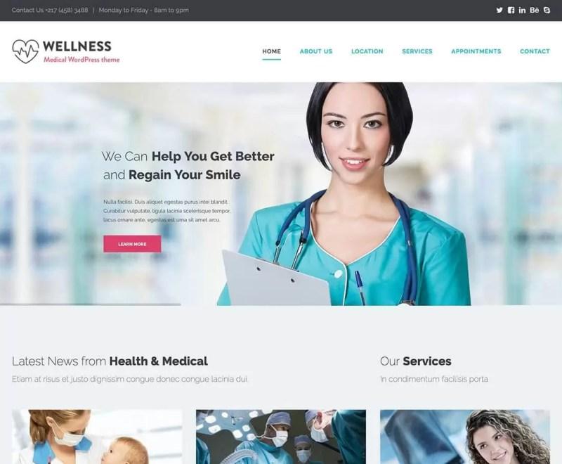 wellness-best wordpress medical themes