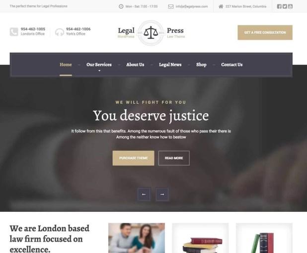 legalpress-Best Premium WordPress Business Themes
