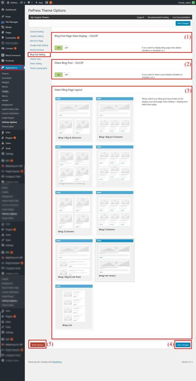 Blog Post Setting - FixPress