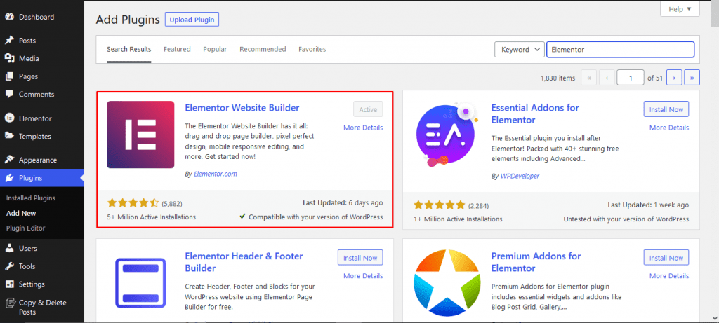 Install Elementor Easy Video Reviews with Elementor