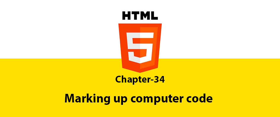 Chapter 34: Marking up computer code