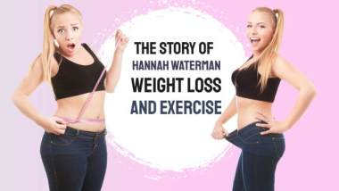 "Image introduces this article with the text ""Hannah Waterman weight loss."""
