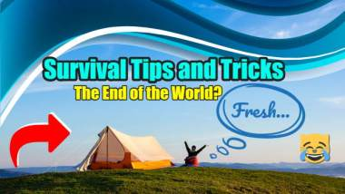 "Image shows camping on a hilltop to illustrate the article ""Survival tips and tricks""."