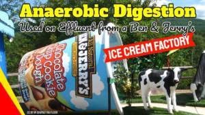 Image shows anaerobic digestion concept for Paques ice cream effluent.
