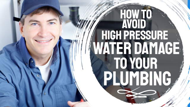 "Image is a thumbnail illustrating the article ""How to avoid high pressure water damage to your plumbing system""."