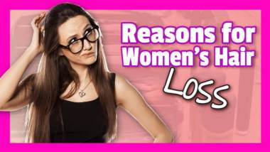 Thumbnail image which features this article on the reasons for women's hair loss.