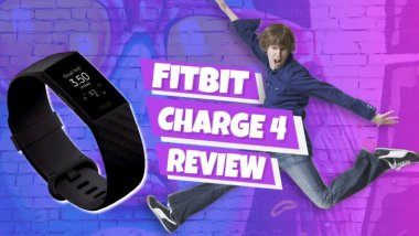 "Image text: ""Fitbit Charge 4 Review""."