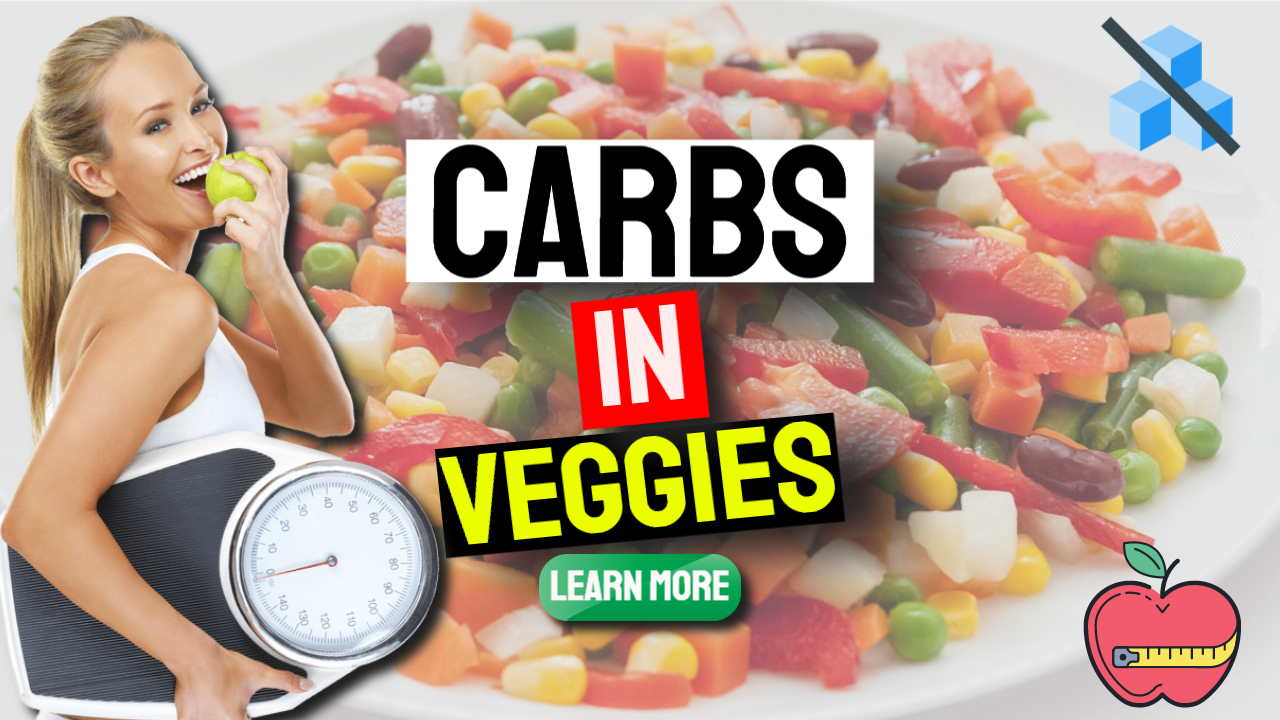 """Image text: """"Carbs in Veggies""""."""