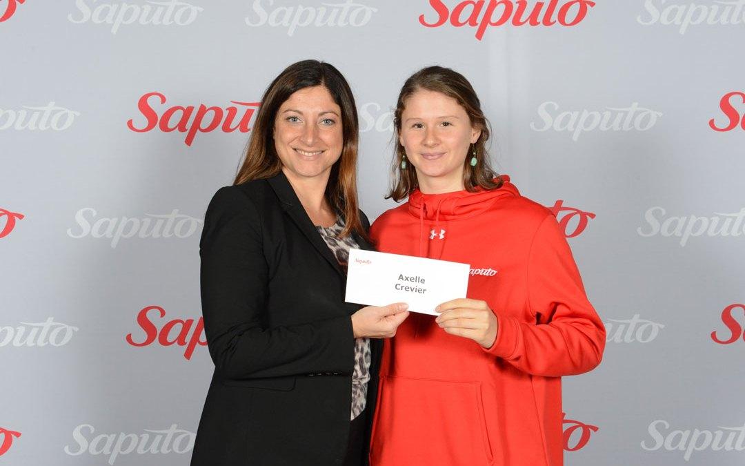 Axelle Crevier boursière du programme de bourses Saputo