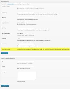 Easy WP SMTP debug mode