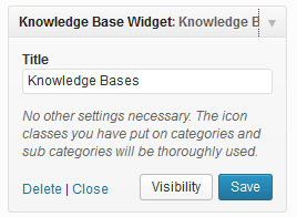 Knowledge Base Widget Settings