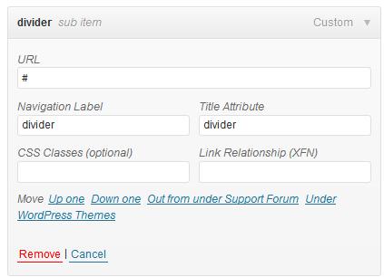 Adding Dividers between nav items