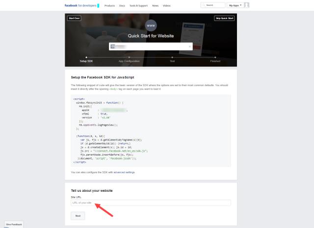 Enter site url
