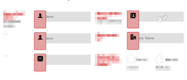 broken appearance of input boxes
