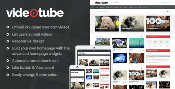 Videotube Wordpress theme