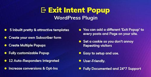 Exit Intent Popup WordPress Plugin