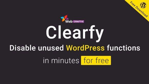 clearfy wordpress plugin