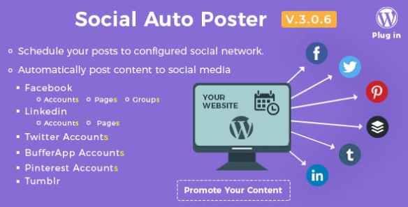 Social Auto Poster Wordpress Plugin