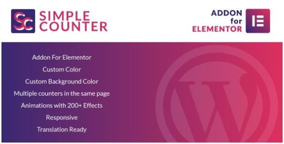 Simple Counters for Elementor Wordpress Plugin
