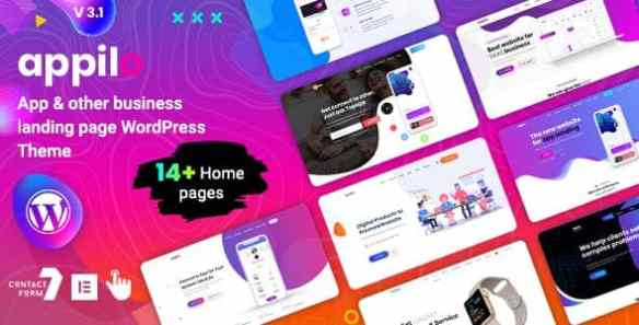Appilo App Landing Page WordPress Theme