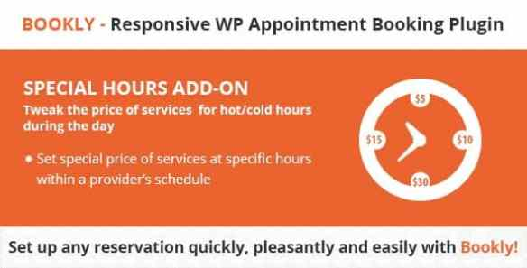 Bookly Special Hours Add-on