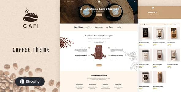 Cafi- coffee shops and cafes shopify theme