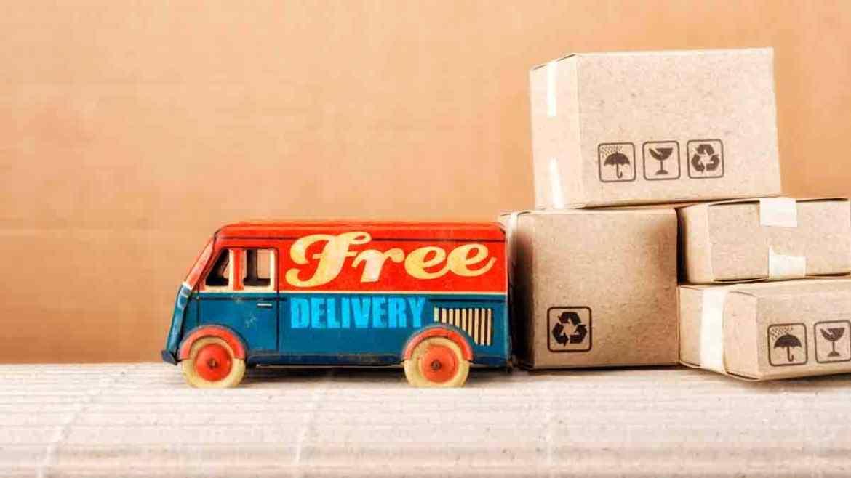 Free shipping or free return card