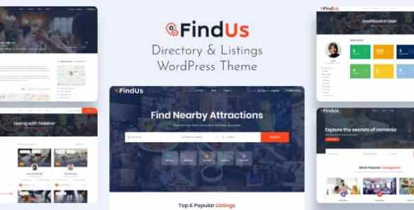 Findus Directory Listing WordPress Theme