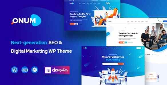 Onum theme SEO and Marketing Elementor WordPress theme