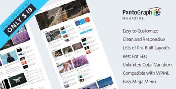 PantoGraph - Newspaper Magazine Wordpress Theme