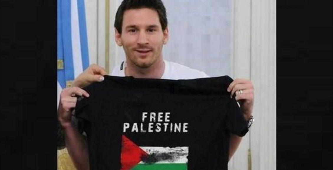 Leo Messi - Free Palestine / Fot. Facebook