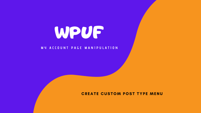 WPUF My Account Custom Menu