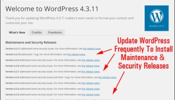 Don't neglect updating WordPress!