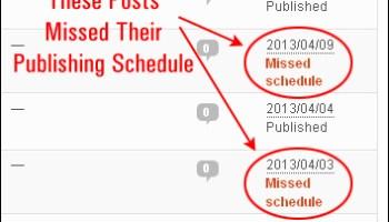 Missed post schedules